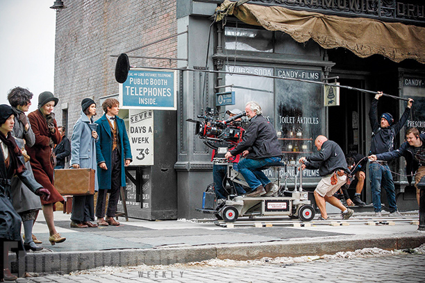 Figure 2: 'Fantastic Beasts and Where to Find Them' shooting scene